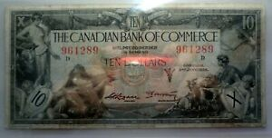 Canadian Bank of Commerce 1935 Ten Dollar Note ST.