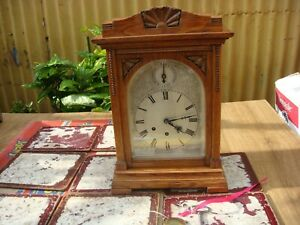 Vintage  German Gustav Becker   Westminster Chimes Mantle Clock  See Video