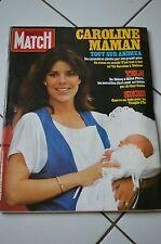 PARIS MATCH N°1830 (22/6/1984) Caroline maman - E. Béart - Nlles stars télé