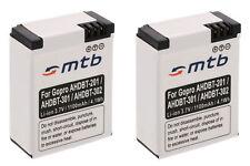 2x Batteries AHDBT-301 pour GoPro Hero3 HD Black, White & Silver Edition