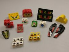 Bulk Lot Lego Pack: Mixed Decorated Slopes & Bricks, Qty x 26