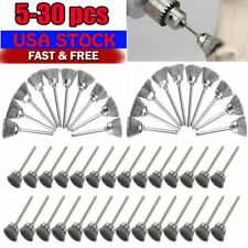 5-30PC Wire Brushes Stainless Steel Dremel Tool Rotary Die Grinder Removal Wheel