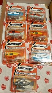 Burger King 2004 Matchbox - 7 Sealed Rescue Helicopters.