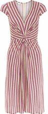 Monsoon Gabriella Dress Uk 12 70s Motif Bnwt Pink Daniella Helayel
