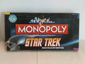 New Star Trek Continuum Edition Monopoly 2009 Open Box Money Opened Other Sealed