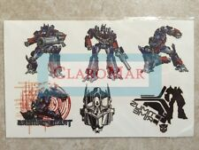 ☀️ NEW Transformers OPTIMUS PRIME Temporary Tattoos VINTAGE One Sheet RARE