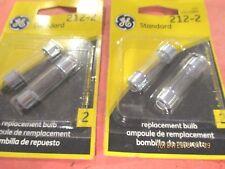 212-2--GE--LOT OF 4--Courtesy Light Bulb Blister Pack Courtesy Light -212-2/BP2