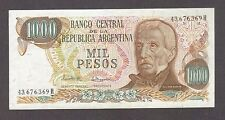 1976 1000 PESOS ARGENTINA CURRENCY AUNC BANKNOTE NOTE MONEY BANK BILL CASH CRISP