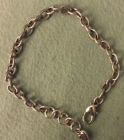 BRIGHTON Delicate OVAL Scroll Chain Bracelet Excellent Condition Adjustable 8.5""