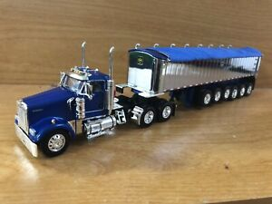 Firstgear DCP 1/64 W-900l Kenworth Daycab And A Six Axle MAC End Dump