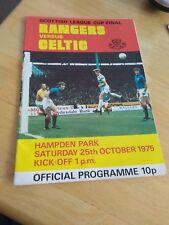 Rangers v Celtic 25/10/75 @ Hampden Park