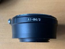 Nikon AI to Micro 4/3 Mount adapter excellent