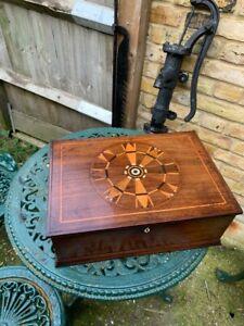 Vintage Mahogany Inlaid Bible Box
