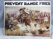VTg~1970~Smokey The Bear~ Prevent Range Fires Poster-department Forest Service