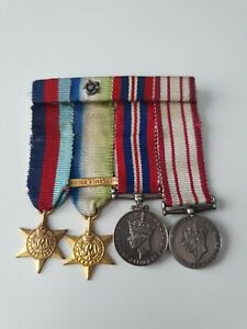 WW2 Royal Navy Miniature Medal Group x4 Medals, Navy General Service medal