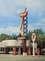Ideal Motel Multiview With Texaco Station 1960 Vintage Postcard Rawlins, Wyoming