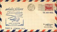 USA HELICOPTER AIR MAIL 1st FLIGHT Cover Oct, 16,1947 CALIFORNIA. - NEW YORK