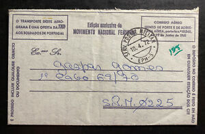 1972 Dili Timor Portuguese Army Post Office Airmail cover To SPM 0225