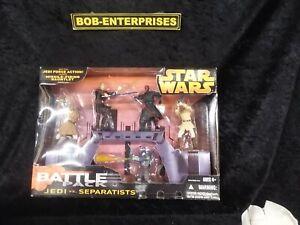 Star Wars BATTLE PK JEDI vs SEPARATISTS: Obi-Wan Anakin Maul Jango Fett Mace bp1