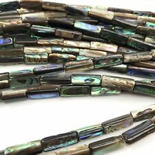 "15.5"" - Natural Abalone Shell 15 - 18mm Tube Beads HQ, NEW DIY Design Rare"