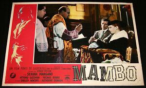 fotobusta film MAMBO Silvana Mangano Michael Rennie Robert Rossen 1954