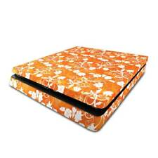Orange Floral PS4 Slim Skin / PlayStation 4 Slim PS4 Slim Skin Sticker Cover