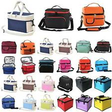 Adult Kids Thermal Insulated Lunch Bag Cool Bag Picnic Food Lunch Storage Box