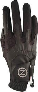 Zero Friction Men's Compression-Fit Right Hand Golf Glove Black/Gray
