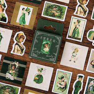 Doll Green Bullet Journal Decorative Washi Scrapbooking Stickers Stick 46pcs