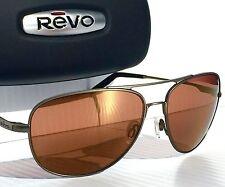 NEW* REVO WINDSPEED Aviator GUNMETAL POLARIZED AMBER lens Sunglass 3087 00 OG
