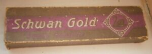 SCHWAN GOLD STABILO FARBSTIFTE VINTAGE PEN CASE PAPER COLOR PENCILS EMPTY BOX