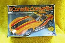 VINTAGE AMT/MPC 1975 CORVETTE CONVERTIBLE CAR PLASTIC MODEL KIT, SEALED-AS IS!