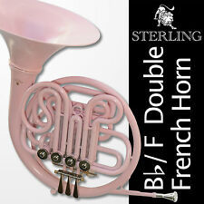 PINK Bb/F Double FRENCH HORN • STERLING Pro Quality • BRAND NEW • With Case •