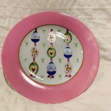 Vintage Limoges France Porcelain Plate Peint Main Signed Cesar Palma
