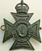 The Brockville Rifles of Canada Cap Badge with King's Crown Post 1953