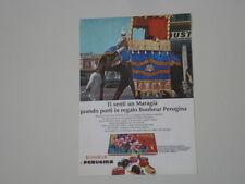 advertising Pubblicità 1968 PERUGINA BONHEUR