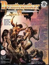 DEATHSTALKER IV / 4__Original 1991 Trade print AD / promo__RICK HILL__MARIA FORD