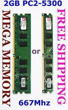 Kingston 2GB DDR2 PC2-5300 667MHz Desktop Memory SAVE