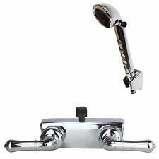 RV/Motorhome Shower Faucet Valve Diverter with Hand Held Shower Chrome