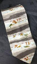 Structure Tie: Men's Necktie Mens Beach Scene Neck Tie 100% Silk Made In USA