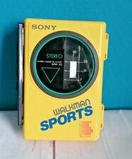 Sony WM-35 Walkman Sports gelb 1987 Vintage tragbarer Kassettenspieler