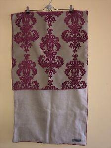 """Ryan Studio Designer Pillow Covers Lot Of 2 - 22"""" Square Maroon Velvet & Linen"""