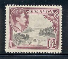 JAMAICA 123a SG128 MNH 1938 6p KGVI Priestman's River Perf 12&1/2 Cat$10