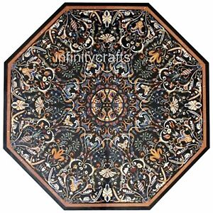 96 Inches Marble Garden Table Top Hand Inlaid Dining Table with Royal Pattern