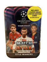 2018-19 Topps UEFA Champions League Soccer Match Attax 60ct TITLE WINNERS TIN