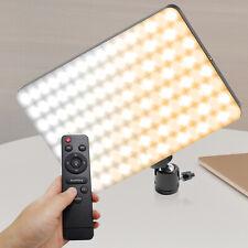 Dimmable 240 LED Video Light Panel for Lighting Photo Studio, Live Stream, Desk
