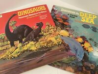 Vintage Sticker Books By Whitman Dinosaurs And Deep Sea used 1970's