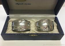 Vintage Elegant Fancy Napkin Rings 800 Fine Silver Italy in Mario Stringa Box
