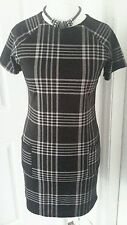 Round Neck Checked Casual Regular Size Dresses for Women