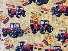 RPFFT10 International Harvester IH Farmall Tractor Potato Sack Cotton Fabric